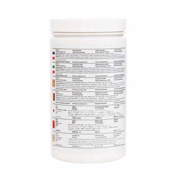 Vitamin C Made in UK back label Translations